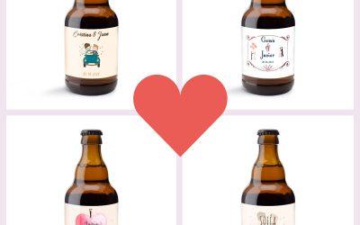 ¡Personalización en cervezas para el día de tu boda!