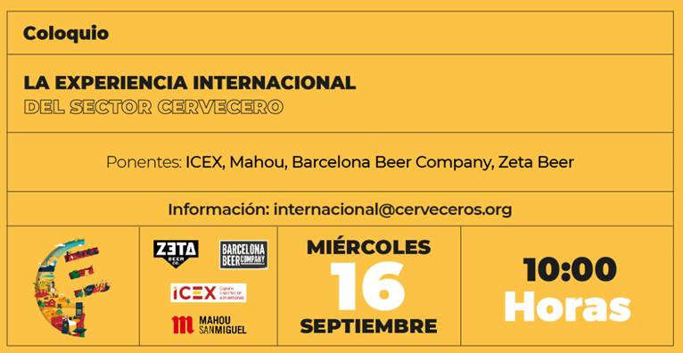 ¡Webinar! La experiencia internacional del Sector Cervecero