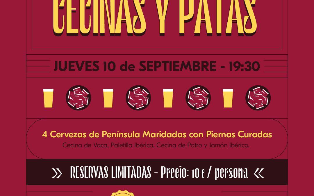 CATA DE CECINAS Y PATAS  JUEVES 10 SEPTIEMBRE / DESDE LAS 19.30H / 10€