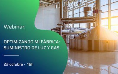 Webinar gratuito 'Optimizando mi fábrica: suministro de luz y gas'
