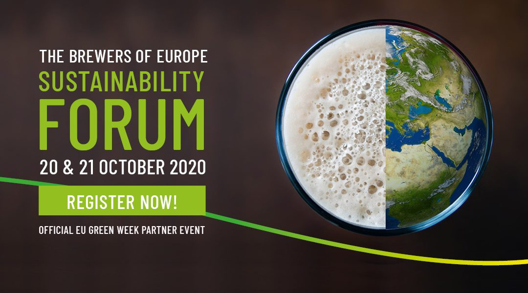REGISTRATION OPEN – 20 & 21 October 2020 The Brewers of Europe Sustainability Forum