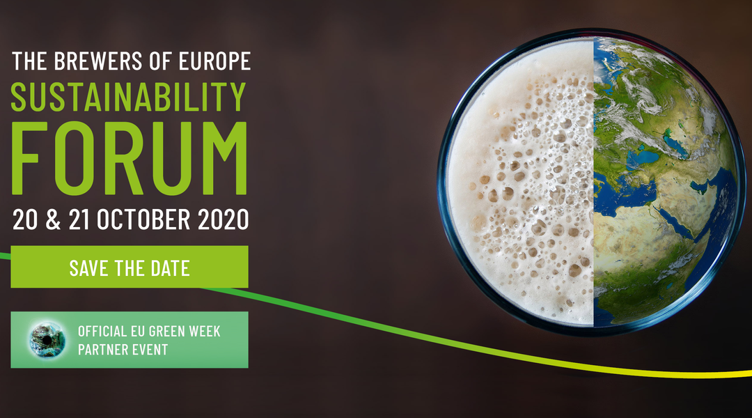 SAVE THE DATE – 20 & 21 October 2020 The Brewers of Europe Sustainability Forum