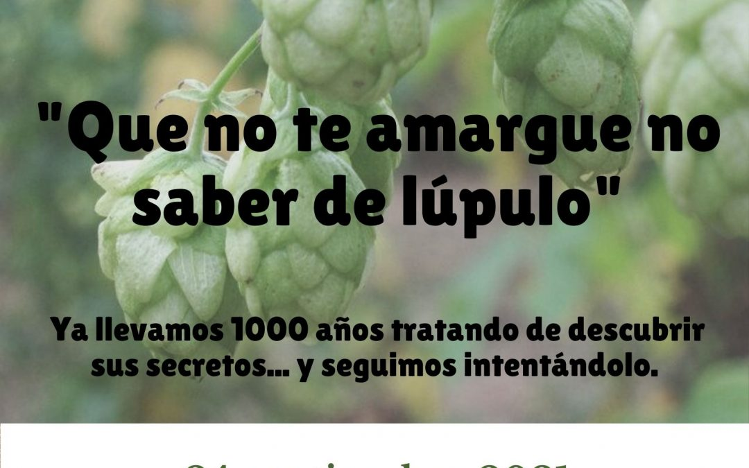 """""""Que no te amargue no saber de lúpulo"""" – Webchat 24 de septiembre"""